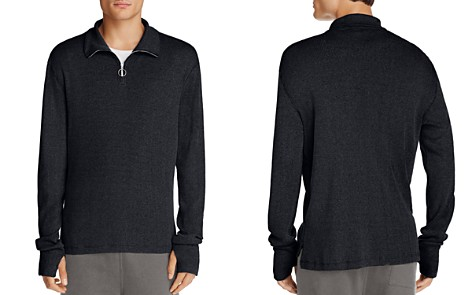 Theory Plaited Rib Half Zip Sweater - 100% Exclusive - Bloomingdale's_2