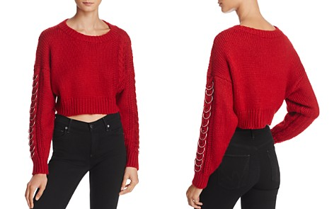 Sunset + Spring Hardware Detail Cable-Knit Sweater - 100% Exclusive - Bloomingdale's_2