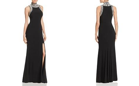 AQUA Beaded Mock Neck Gown - 100% Exclusive - Bloomingdale's_2