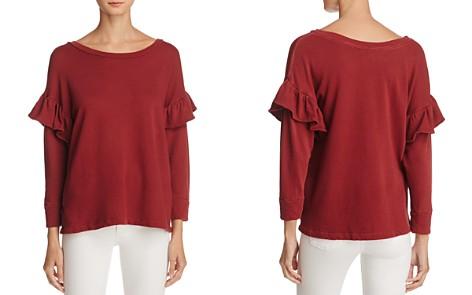Current/Elliott Drop Shoulder Ruffle Sweatshirt - Bloomingdale's_2