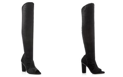 JAGGAR Women's Velvet Peep Toe Over-the-Knee Boots - Bloomingdale's_2