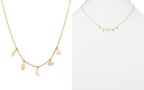 """Zoë Chicco 14K Yellow Gold Itty Bitty Celestial Charms Necklace with Diamonds, 16"""" - Bloomingdale's_2"""