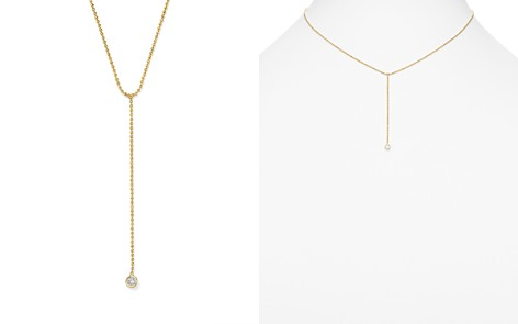 "Zoë Chicco 14K Yellow Gold Beaded Chain Y Necklace with Diamond, 16"" - Bloomingdale's_2"