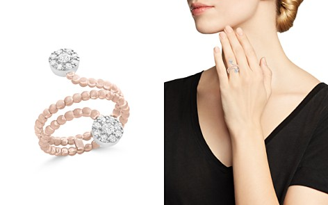 Diamond Cluster Beaded Ring in 14K White and Rose Gold, .35 ct. t.w. - 100% Exclusive - Bloomingdale's_2