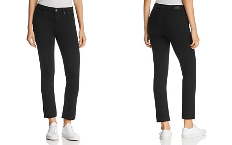 PAIGE Jacqueline Straight Crop Jeans in Black Shadow - Bloomingdale's_2