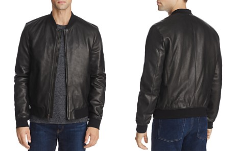Cole Haan Leather Varsity Bomber Jacket - Bloomingdale's_2