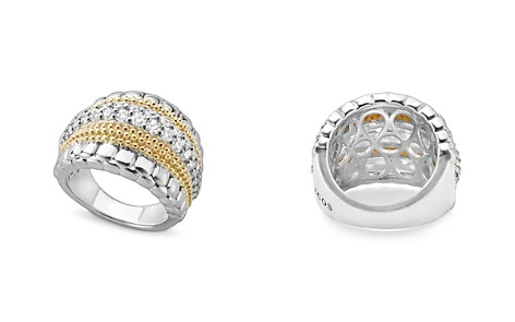 LAGOS 18K Gold and Sterling Silver Diamond Lux Ring - Bloomingdale's_2