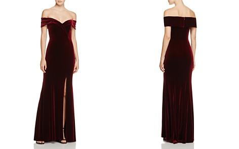 Avery G Off-the-Shoulder Velvet Gown - Bloomingdale's_2