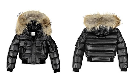 SAM. Girls' Skyler Fur-Trimmed Down Bomber Jacket - Big Kid - Bloomingdale's_2