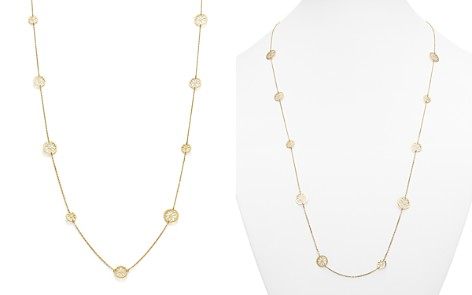 "14K Yellow Gold Flower Medallion Station Necklace, 35.5"" - 100% Exclusive - Bloomingdale's_2"
