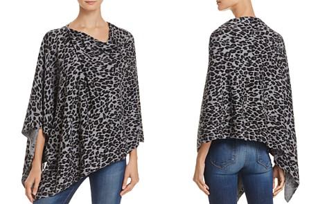 Minnie Rose Leopard-Print Ruana Cashmere Poncho - Bloomingdale's_2
