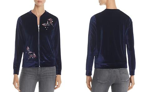Design History Floral Embroidered Velvet Bomber Jacket - Bloomingdale's_2