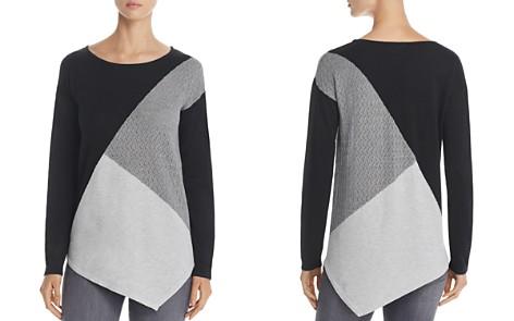Design History Asymmetric Color Block Sweater - Bloomingdale's_2