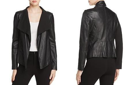 Donna Karan New York Draped Collar Leather Jacket - Bloomingdale's_2