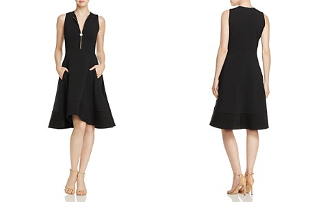 Donna Karan New York Sleeveless Zip-Front Dress - Bloomingdale's_2