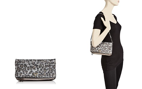 Zadig & Voltaire Leopard Print Glitter Leather Clutch - Bloomingdale's_2