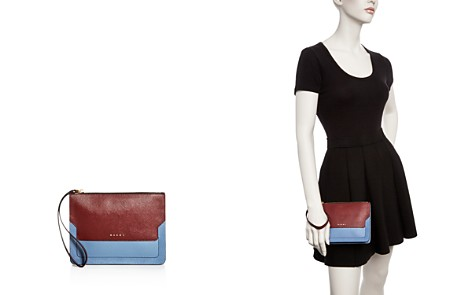 Marni Color Block Leather Clutch - Bloomingdale's_2
