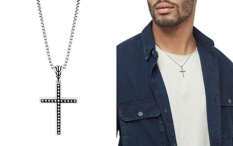 "John Hardy Sterling Silver Classic Chain Jawan Cross Pendant Necklace, 20"" - Bloomingdale's_2"