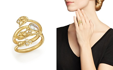 Temple St. Clair 18K Yellow Gold Royal Blue Moonstone and Diamond Leaf Ring - Bloomingdale's_2