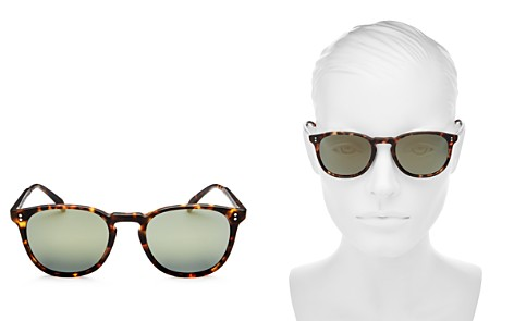 Oliver Peoples Women's Finley Polarized Mirrored Square Sunglasses, 50mm - Bloomingdale's_2