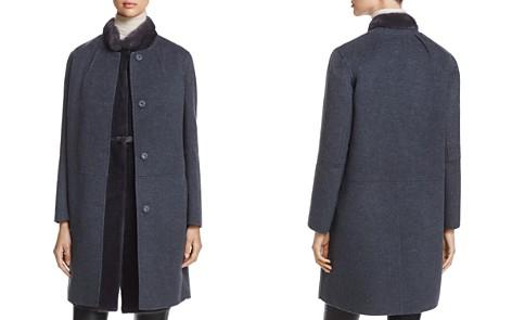 Maximilian Furs x Manzoni 24 Wool Coat with Mink Fur Vest - 100% Exclusive - Bloomingdale's_2