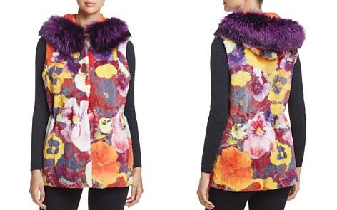 Maximilian Furs Reversible Floral Rabbit Fur Vest - 100% Exclusive - Bloomingdale's_2