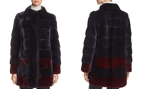 Maximilian Furs Color-Block Kopenhagen Mink Fur Coat - 100% Exclusive - Bloomingdale's_2