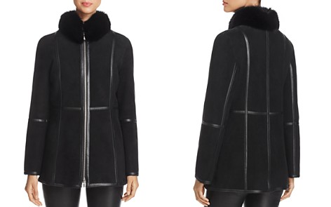 Maximilian Furs Fox Fur-Collar Shearling Jacket - 100% Exclusive - Bloomingdale's_2