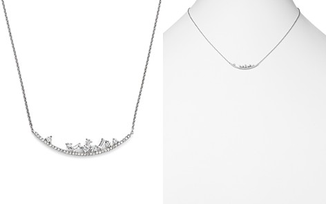 """KC Designs 14K White Gold Diamond Mosaic Curved Bar Necklace, 16"""" - Bloomingdale's_2"""