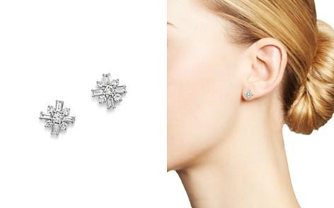 KC Designs 14K White Gold Mosaic Diamond Stud Earrings - Bloomingdale's_2