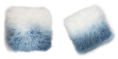 "Eightmood Fuyu Dip-Dyed Fur Decorative Pillow, 16"" x 16"" - Bloomingdale's_2"