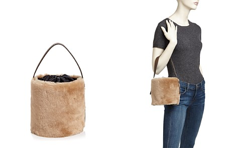 Arron Small Shearling & Leather Bucket Bag - Bloomingdale's_2