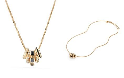 David Yurman Stax Color Pendant Necklace with Black Spinel, Black Enamel & Diamonds in 18K Gold - Bloomingdale's_2
