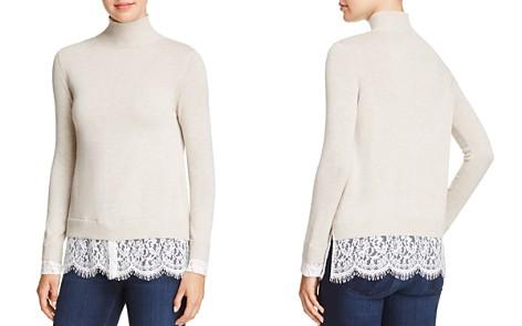Joie Fredrika Lace-Trimmed Mock-Neck Sweater - Bloomingdale's_2