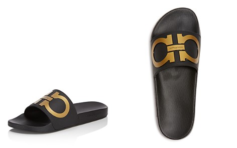 Salvatore Ferragamo Men's Groove 2 Original Double Gancini Slide Sandals - Bloomingdale's_2