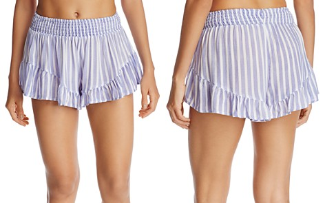 Surf Gypsy Striped Ruffle Swim Cover-Up Shorts - Bloomingdale's_2