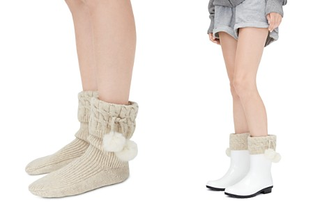 UGG® Sienna Socks with Faux Fur Pom-Poms - Bloomingdale's_2