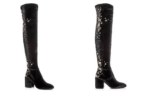 Ash Women's Eros Embellished Velvet Over-the-Knee Boots - Bloomingdale's_2