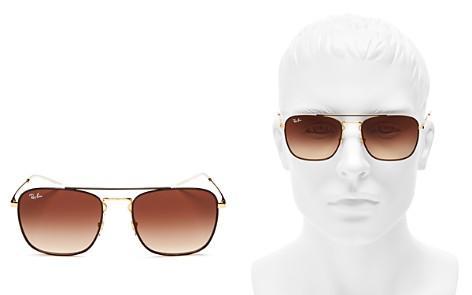 Ray-Ban Unisex Brow Bar Navigator Square Sunglasses, 55mm - Bloomingdale's_2