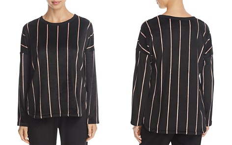 5937f8058accf0 DKNY Striped Plush Top - Bloomingdale s 2