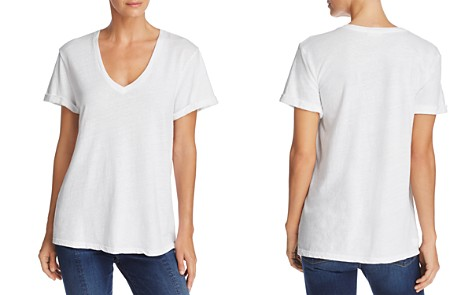 FRAME Cuffed V-Neck Tee - Bloomingdale's_2