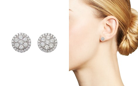 Frederic Sage 18K White Gold Firenze Round Diamond Cluster Stud Earrings - Bloomingdale's_2
