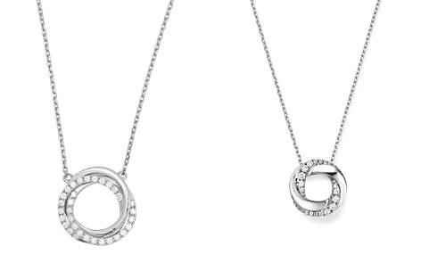 """Frederic Sage 18K White Gold Small Triple Halo Diamond Pendant Necklace, 16"""" - Bloomingdale's_2"""