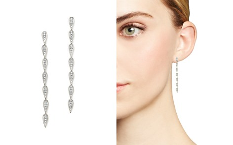 Adina Reyter Sterling Silver Pavé Diamond Teardrop Link Earrings - Bloomingdale's_2