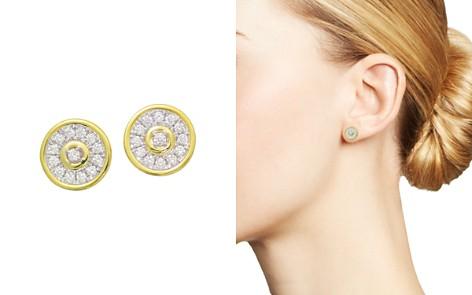Frederic Sage 18K White & Yellow Gold Firenze Diamond Disc Stud Earrings - Bloomingdale's_2