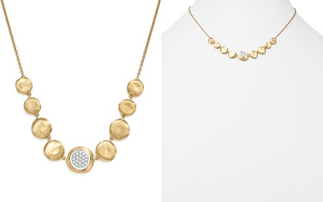 """Marco Bicego 18K White & Yellow Gold Diamond Jaipur Small Bead Necklace, 18"""" - Bloomingdale's_2"""