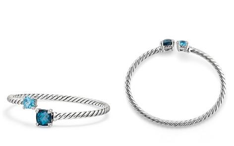 David Yurman Châtelaine Bypass Bracelet with Hampton Blue Topaz, Blue Topaz & Diamonds - Bloomingdale's_2