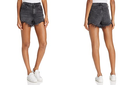 T by Alexander Wang Bite Cut-Off Shorts in Grey Aged - Bloomingdale's_2