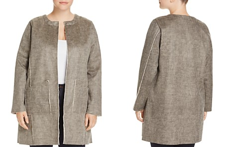 B Collection by Bobeau Curvy Anja Faux Shearling Jacket - Bloomingdale's_2