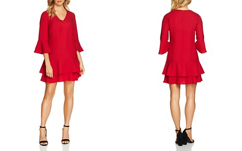 CeCe by Cynthia Steffe Katelyn Three-Quarter Sleeve Ruffle Dress - Bloomingdale's_2